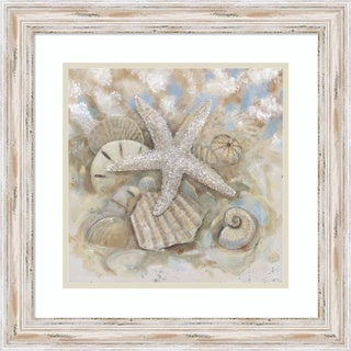 Framed Art Print 'Beach Prize IV: Starfish' by Arnie Fisk 19 x 19-inch