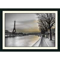 Framed Art Print 'River Seine and The Eiffel Tower' by Assaf Frank 43 x 31-inch