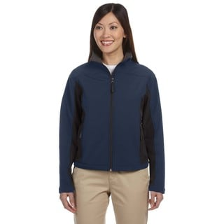 Soft Shell Women's Colorblock Navy/Dark Charcoal Jacket