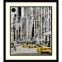 Framed Art Print 'Somewhere in New York City' by Loui Jover 20 x 23-inch