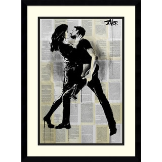 Framed Art Print 'Night Moves (Dance)' by Loui Jover 17 x 23-inch