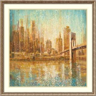 Framed Art Print 'Champagne City' by Danhui Nai 34 x 34-inch