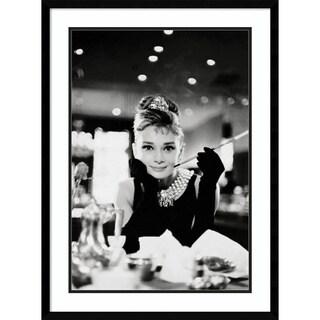 Framed Art Print 'Audrey Hepburn Breakfast at Tiffany's'