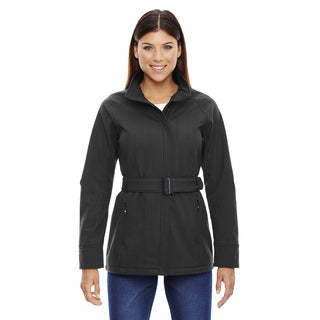 Skyscape Women's Three-Layer Textured Two-Tone Soft Shell Carbon Heathered 452 Jacket