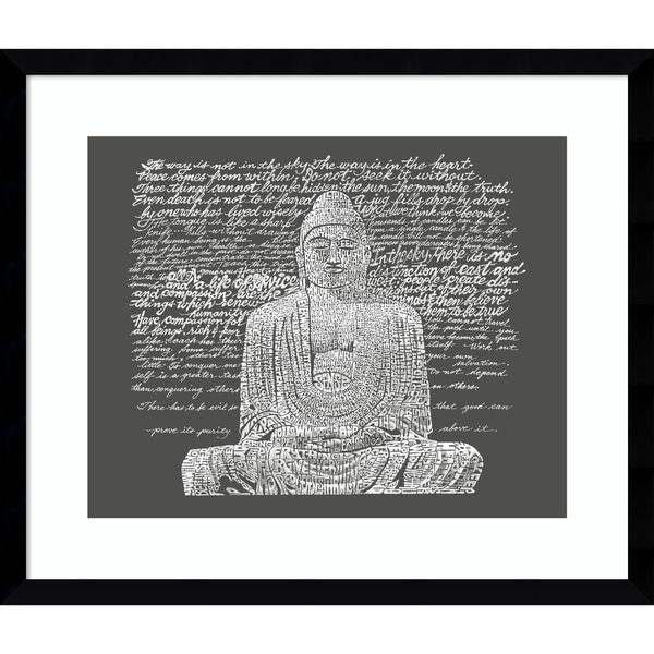 Shop Framed Art Print \'Zen Buddha Sayings\' by L.A. Pop Art 20 x 17 ...