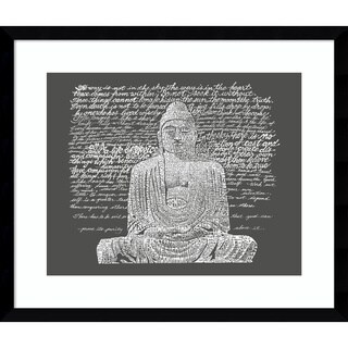 Framed Art Print 'Zen Buddha Sayings' by L.A. Pop Art 20 x 17-inch