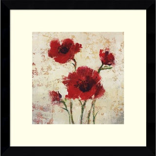 Framed Art Print 'Simply Floral I' by Tim O'Toole 13 x 13-inch