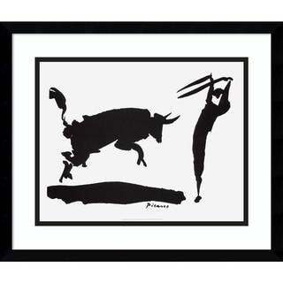 Framed Art Print 'Bullfight III - Picador' by Pablo Picasso 19 x 16-inch