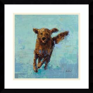 Framed Art Print 'Golden Dog No. 5' by Rebecca Kinkead 17 x 17-inch
