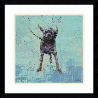 Framed Art Print 'Shake No. 3 Dog' by Rebecca Kinkead 17 x 17-inch