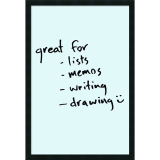 Framed 'Dry Erase Board Large, Light Blue' 22 x 32-inch
