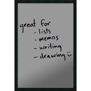 Framed 'Dry Erase Board Large, Silver Metallic' 22 x 32-inch