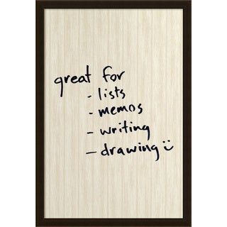 Framed 'Dry Erase Board Large, White Wash Beadboard' 22 x 32-inch