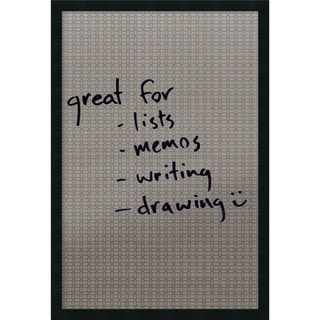 Framed 'Dry Erase Board Large, Double Circles' 22 x 32-inch
