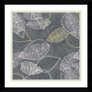 Framed Art Print 'Winter's Grey II: Leaves' by Ali Benyon 16 x 16-inch
