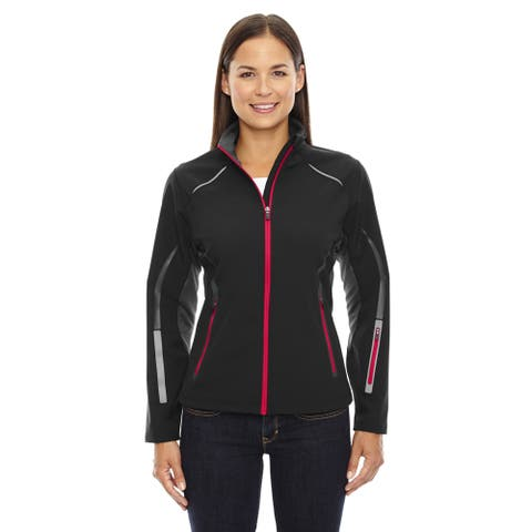 Pursuit Three-Layer Light Bonded Women's Hybrid Soft Shell Jacket With Laser Perforation