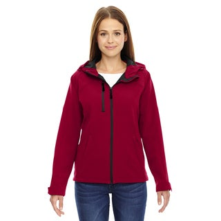 Prospect Two-Layer Fleece Bonded Women's Soft Shell Hooded Molten Red 751 Jacket (Option: 3XL)