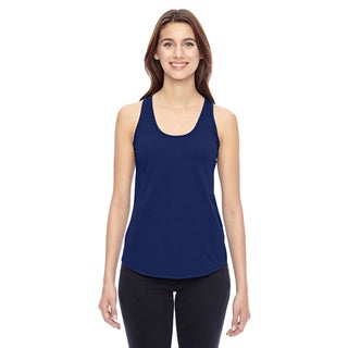 Shirtail Women's Navy Tank