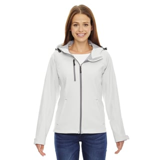 Prospect Two-Layer Fleece Bonded Women's Crystal Qrtz 695 Soft Shell Hooded Jacket