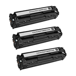 3PK Canon 131BK Compatible Black Toner Cartridge Canon imageCLASS MF8280Cw Printer (Pack of 3)