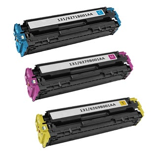 3PK Canon 131 C M Y Compatible Cyan Magenta Yellow Toner Cartridge Canon imageCLASS MF8280Cw Printer (Pack of 3)
