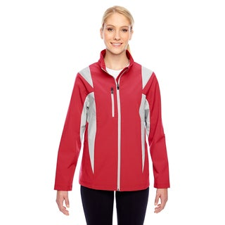 Icon Women's Colorblock Soft Shell Sport Red/Sp Silver Jacket (Option: 3XL)