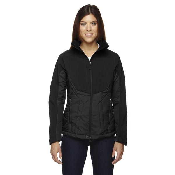 Innovate Women's Insulated Hybrid Soft Shell Women's Black 703 Jacket