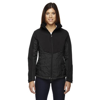 Innovate Women's Insulated Hybrid Soft Shell Women's Black 703 Jacket