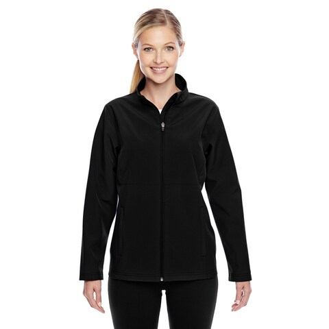 Leader Women's Soft Shell Black Jacket