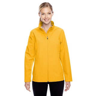 Leader Women's Soft Shell Sport Athletic Gold Jacket