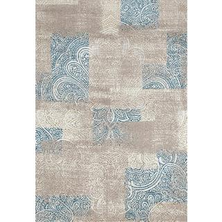 Persian Rugs Beverly Collection Blue Ivory Indoor Area Rug (5'2 x 7'2)