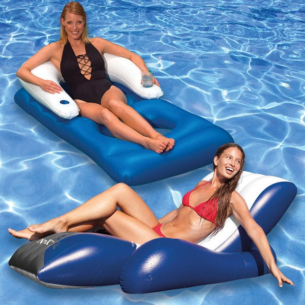 Recliner and Classic Lounge Pool Floats (Pack of 2)