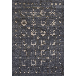 Persian Rugs Beverly Collection Gray Beige Gold Antique Styled Area Rug (7'10 x 10'6)