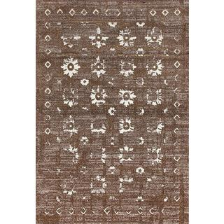 Persian Rugs Beverly Collection Gold Brown Beige Antique Styled Area Rug (7'10 x 10'6)