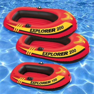 Intex Explorer 100 and 2-piece Explorer 200 Pool Floats (Pack of 3)