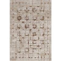 "Persian Rugs Beverly Collection Beige Gold Brown Antique Styled Area Rug - 7'10"" x 10'6"""