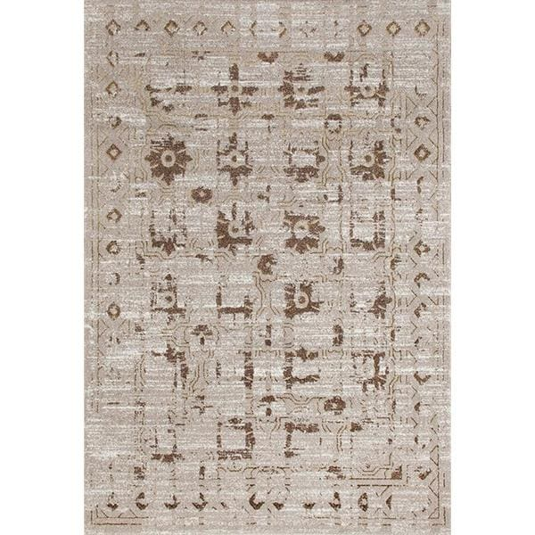 """Persian Rugs Beverly Collection Beige Gold Brown Antique Styled Area Rug - 7'10"""" x 10'6"""""""