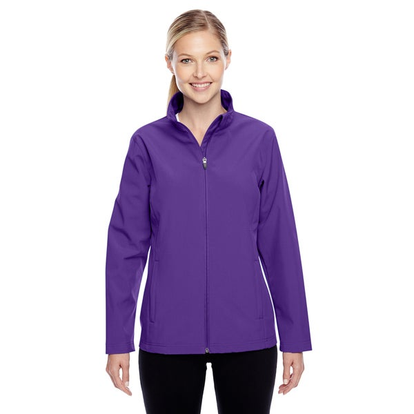 Leader Women's Soft Shell Sport Purple Jacket