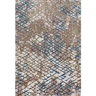 Persian Rugs Beehive Designed Multi Colored Beverly Collection Modern Area Rug (7'10 x 10'6)