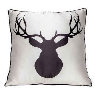 Interior Illusions Black/ White Polyester 16-inch Wide Animal Throw Pillow