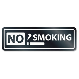 U.S. Stamp & Sign No Smoking Window Sign - White
