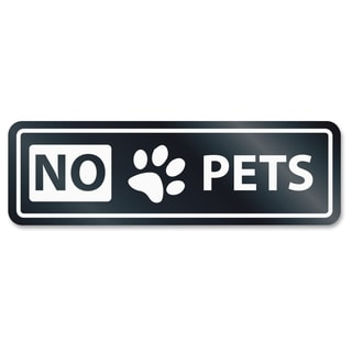 U.S. Stamp & Sign No Pets Window Sign - White