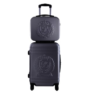 Lollipops Dark Grey Hardside Carry On 2-piece Spinner Luggage Set