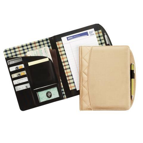 Goodhope Gold Microfiber Mini Memo Pad Holder