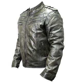 Men's Green Sheep Skin Leather Jacket|https://ak1.ostkcdn.com/images/products/12298262/P19134384.jpg?impolicy=medium