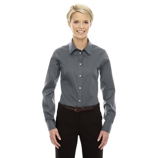 Crown Women's Graphite Collection Solid Stretch Twill Dress Shirt