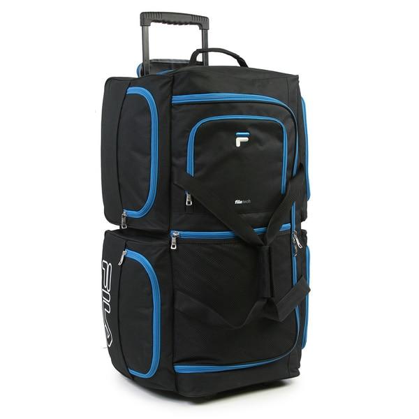 55cf9bb6e4a0 Shop Fila 7-pocket 30-inch Large Rolling Duffel Bag - Free Shipping ...