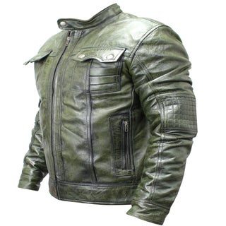 Link to Men's Green Sheep Skin Leather Fashion Jacket Similar Items in Big & Tall