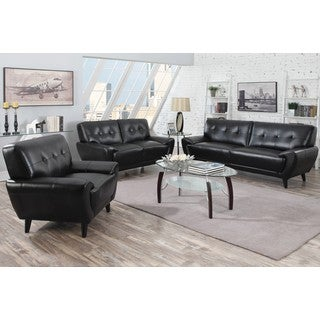 Hughes Mid-century Tufted Design Living Room Collection