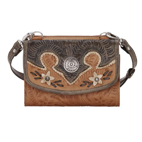 American West Wildflower Wallet Crossbody